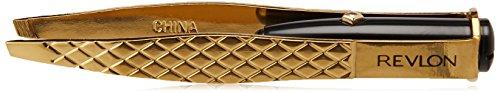 Revlon Gold Series Lighted Slant Tweezer, Titanium Coated for Maximum Durability