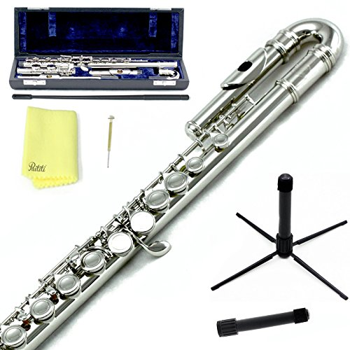 Sky C Flute with Lightweight Case, Cleaning Rod, Cloth, Joint Grease and Screw Driver -  Curved...