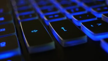 ergonomic keyboard with touchpad